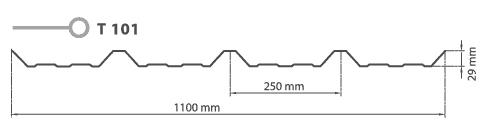 Policarbonato Trapezoidal T-101