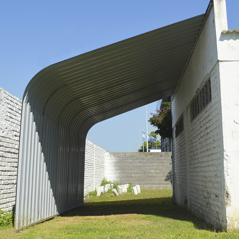 Semi Garage autoportante de chapa curva de acero